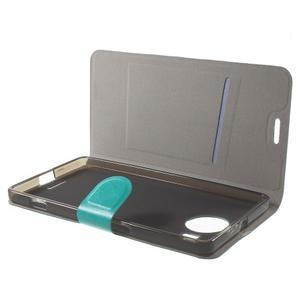 Horse peněženkové pouzdro na Microsoft Lumia 950 XL - modré - 5