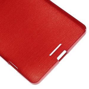 Brushed gelový obal na mobil Microsoft Lumia 950 XL - červený - 5
