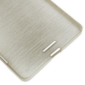 Brushed gelový obal na mobil Microsoft Lumia 950 XL - zlatý - 5