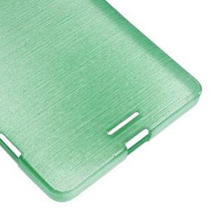 Brushed gelový obal na mobil Microsoft Lumia 950 XL - cyan - 5