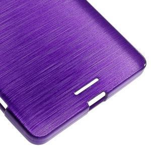 Brushed gelový obal na mobil Microsoft Lumia 950 XL - fialový - 5