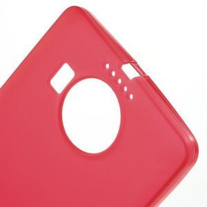 Matný gelový obal na mobil Microsoft Lumia 950 XL - červený - 5