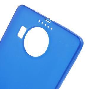 Matný gelový obal na mobil Microsoft Lumia 950 XL - modrý - 5