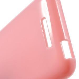 Jelly lesklý gelový obal na HTC Desire 510 - růžový - 5