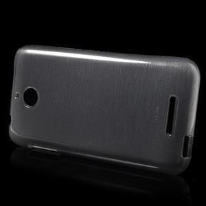 Brushed hladký gelový obal na HTC Desire 510 - šedý - 5