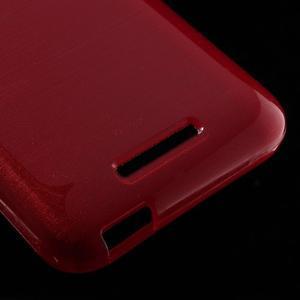 Brushed hladký gelový obal na HTC Desire 510 - červený - 5