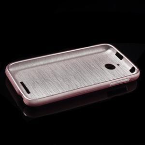 Brushed hladký gelový obal na HTC Desire 510 - růžový - 5