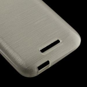 Brushed hladký gelový obal na HTC Desire 510 - zlatý - 5