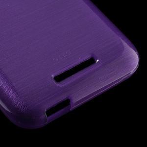 Brushed hladký gelový obal na HTC Desire 510 - fialový - 5