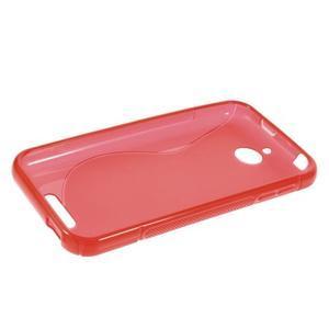 S-line gelový obal na mobil HTC Desire 510 - červený - 5