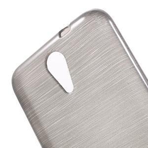 Brushed hladký gelový obal na HTC Desire 620 - šedý - 5
