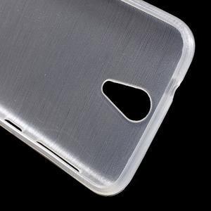 Brushed hladký gelový obal na HTC Desire 620 - bílý - 5
