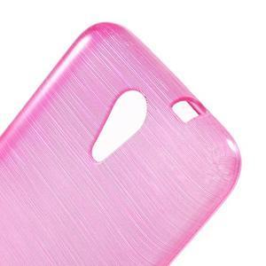 Brushed hladký gelový obal na HTC Desire 620 - rose - 5