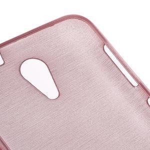 Brushed hladký gelový obal na HTC Desire 620 - růžový - 5