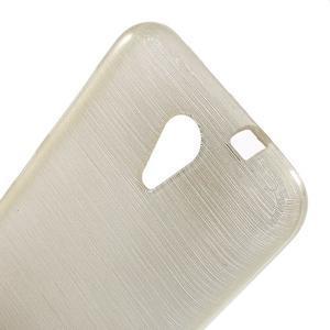 Brushed hladký gelový obal na HTC Desire 620 - zlatý - 5