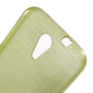 Brushed hladký gelový obal na HTC Desire 620 - zelený - 5
