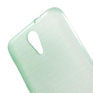 Brushed hladký gelový obal na HTC Desire 620 - cyan - 5
