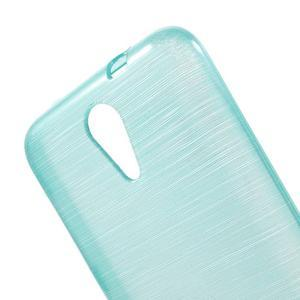 Brushed hladký gelový obal na HTC Desire 620 - modrý - 5