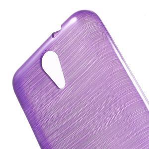 Brushed hladký gelový obal na HTC Desire 620 - fialový - 5