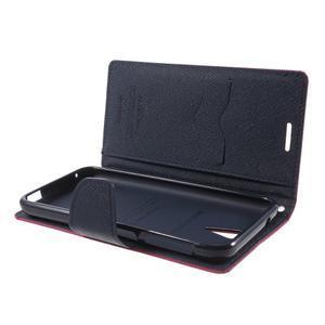 Diary PU kožené pouzdro na mobil HTC Desire 620 - rose - 5