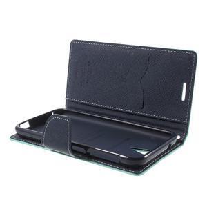 Diary PU kožené pouzdro na mobil HTC Desire 620 - cyan - 5