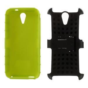 Outdoor odolný obal na mobil HTC Desire 620 - zelený - 5