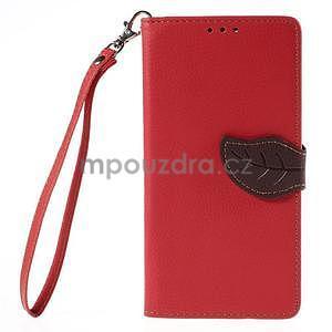 Červené peněženkové pouzdro na Huawei Ascend G7 - 5