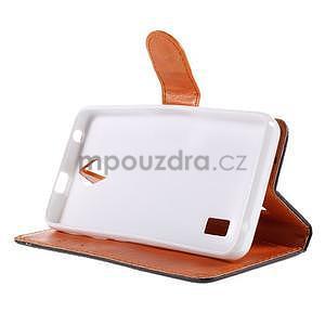 Zapínací peněženkové pouzdro na Huawei Y635 - fishbone - 5