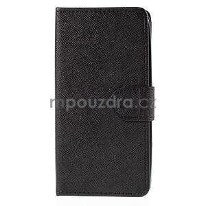 PU kožené černé pouzdro se zapínáním Huawei Y635 - 5
