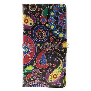 Peněženkové pouzdro na Huawei Y635 - barevné kruhy - 5