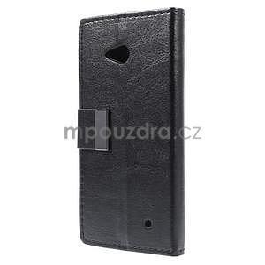 Peněženkové PU kožené pouzdro na Microsoft Lumia 640 - černé - 5