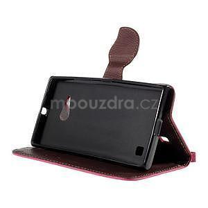 PU kožené pouzdro se zapínáním na Nokia Lumia 730/735 - rose - 5