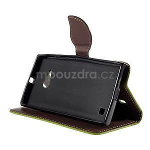 PU kožené pouzdro se zapínáním na Nokia Lumia 730/735 - zelené - 5
