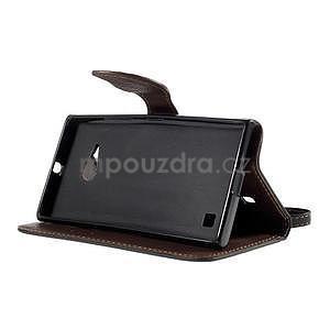 PU kožené pouzdro se zapínáním na Nokia Lumia 730/735 - černé - 5
