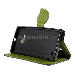 PU kožené pouzdro se zapínáním na Nokia Lumia 730/735 - hnědé - 5