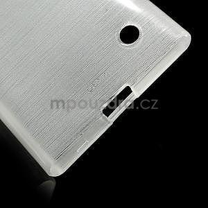 Gelový obal Brush na Nokia Lumia 730/735 - bílý - 5