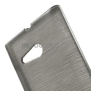 Gelový obal Brush na Nokia Lumia 730/735 - šedý - 5