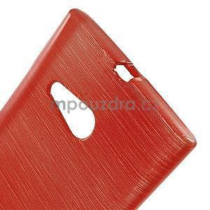 Gelový obal Brush na Nokia Lumia 730/735 - červený - 5