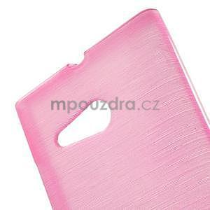 Gelový obal Brush na Nokia Lumia 730/735 - rose - 5