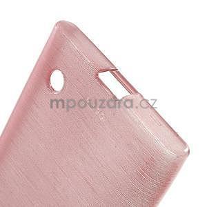 Gelový obal Brush na Nokia Lumia 730/735 - růžový - 5
