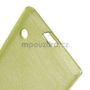 Gelový obal Brush na Nokia Lumia 730/735 - zelený - 5