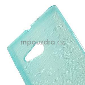 Gelový obal Brush na Nokia Lumia 730/735 - modrý - 5