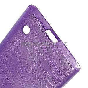 Gelový obal Brush na Nokia Lumia 730/735 - fialový - 5