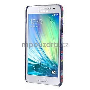 Obal potažený látkou na Samsung Galaxy A3 - mix barev II - 5