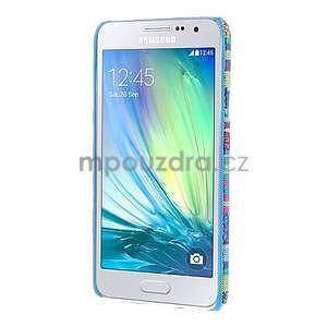 Obal potažený látkou na Samsung Galaxy A3 - mix barev I - 5