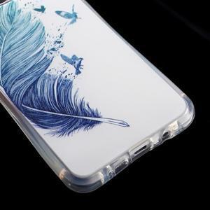 Tvarovaný gelový obal na Samsung Galaxy A5 (2016) - ptačí peříčko - 5