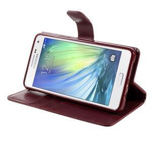 Luxusní PU kožené pouzdro na mobil Samsung Galaxy A5 (2016) - vínové - 5