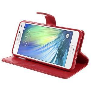Luxusní PU kožené pouzdro na mobil Samsung Galaxy A5 (2016) - červené - 5