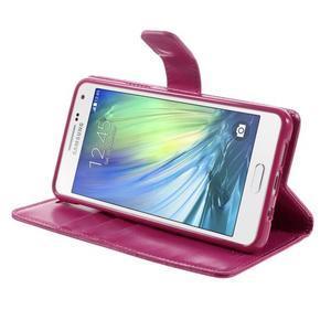 Luxusní PU kožené pouzdro na mobil Samsung Galaxy A5 (2016) - rose - 5