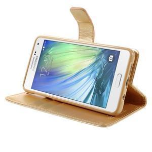 Luxusní PU kožené pouzdro na mobil Samsung Galaxy A5 (2016) - zlaté - 5